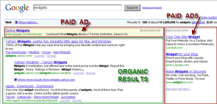 Website Traffic from Search Engines Includes Both Paid and Organic Results