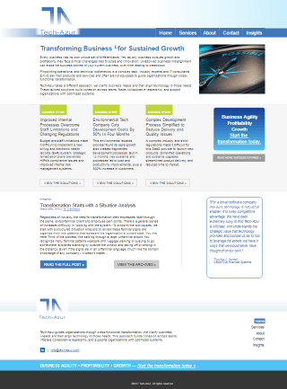 Tech Azur Website by Market it Write