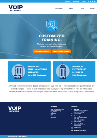 """VOIP Networks Website - Part of the Market it Write Web Content Portfolio"