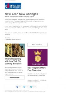 Insurance Agency Newsletter Sample