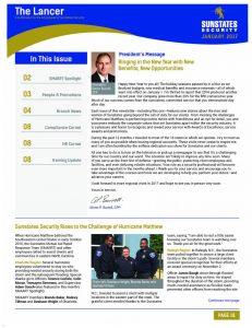 Sunstates Security Lancer Employee Newsletter Sample