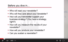 Newsletter Marketing Video Series Part 2